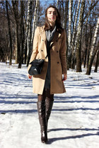camel Zara coat - gray united colors of benetton dress