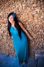 Turquoise-blue-forever-21-dress