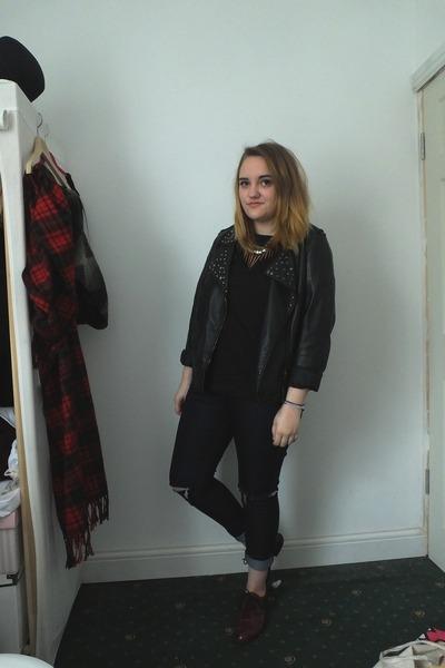 navy Primark jeans - black Primark jacket - black Primark shirt