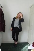 black next jeans - forest green tartan Primark blazer