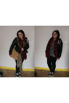 navy Primark dress - black Primark jacket - black Topshop leggings