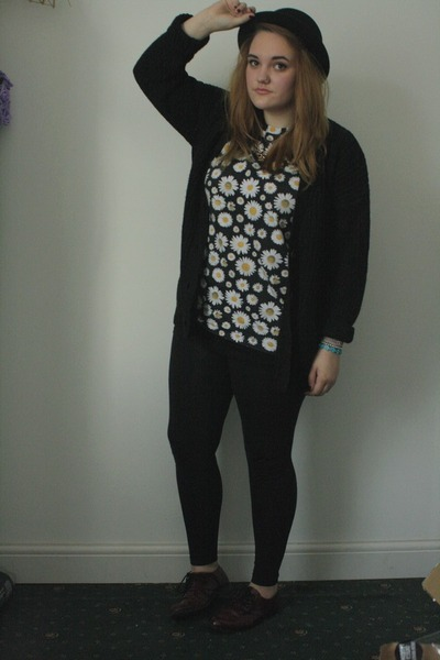 black bowler hat H&M hat - black Topshop leggings