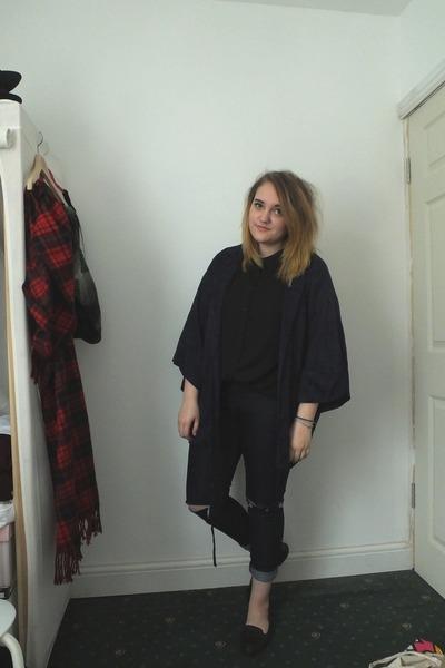 navy Primark jeans - navy Topshop jacket - black new look shirt