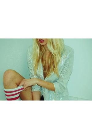 pink American Apparelm socks