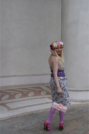 bubble gum flower asos hair accessory - hot pink pink   shoes La Redoute shoes