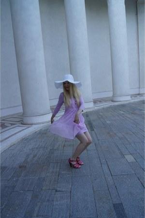 violet Ellos dress - hot pink La Redoute sandals