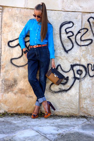 Charles & Keith bag - No name Athens jeans - calvin klein shirt