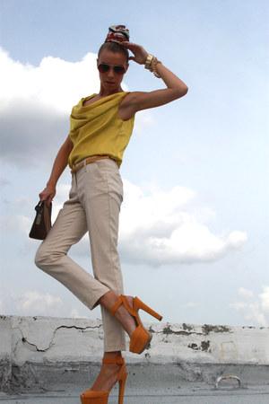 Charles & Keith bag - Zara pants - H&M top