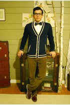 F21 MEN cardigan - Bass & Co shoes - banana republic tie