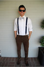 Dark-brown-oxford-steve-madden-shoes-white-express-shirt