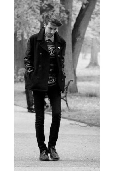 shoes - coat - jeans - sweater - shirt