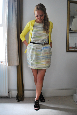 Zara sweater - People Tree dress - united colors of benetton belt - Zara shoes