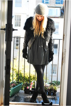 black DIY jacket - black ASH boots - green Zara dress - green Vintage from Wolf