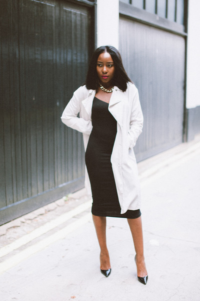 trench coat H&M jacket - cami dress asos dress