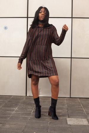 crimson Zara jumper - black Public desire boots