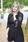 Black-crochet-missguided-romper-h-m-heels