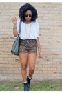 Brown-leopard-goodwill-shorts-black-oasap-ring-white-tj-maxx-top