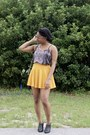 Gold-amiclubwear-skirt-charcoal-gray-rings-tings-accessories