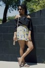 Black-dealsale-top-light-yellow-floral-oasapcom-skirt