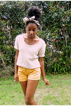 mustard Forever 21 shorts - eggshell diy Goodwill sweater