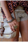 Camel-tj-maxx-shorts-beige-goodwill-bag-red-h-m-top-silver-kohls-necklace