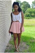 pink OASAP skirt - white Forever 21 top