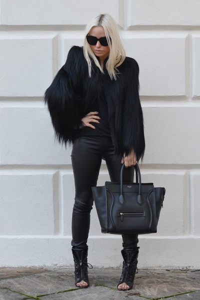 black Alexander Wang boots - black Vintage gorilla jacket