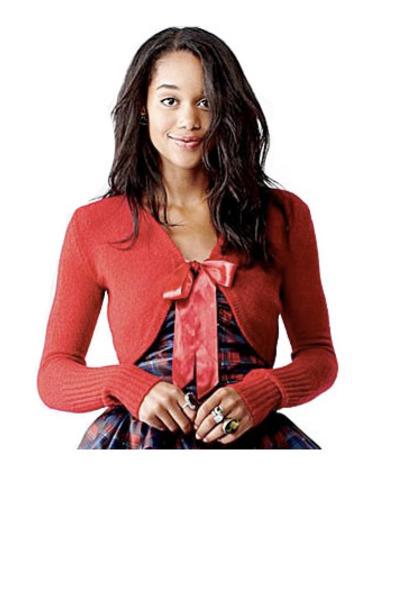 red olsenboye cardigan