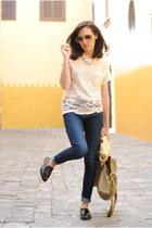 Primark t-shirt - vagabond shoes - Zara jeans - Primark bag