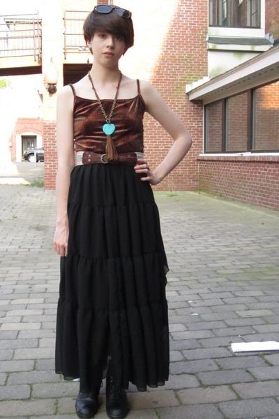 black leather etsy vintage boots - brown snakeskin-print crystallized vintage dr