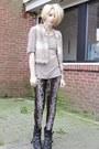 Black-studded-etsy-boots-dark-brown-snake-skin-ebay-leggings