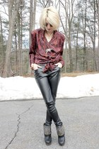 black studded Steve Madden boots - gold round gypsy warrior sunglasses