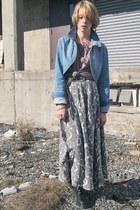 black doc martens Ebay boots - sky blue denim thrifted jacket