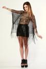 Black-thriftednet-top-black-vintage-shorts-black-jeffrey-campbell-shoes