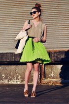 chartreuse Radenroro dress - ivory denim Forever 21 jacket