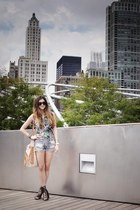black Jeffrey Campbell shoes - light blue Levis shorts