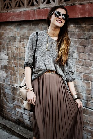 puce nastygal skirt - charcoal gray Topshop sweater