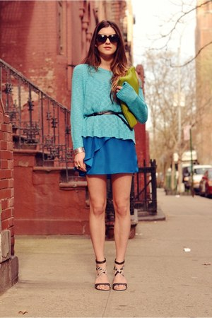 clutch American Apparel bag - Matiko shoes - Urban Outfitters dress - LF sweater