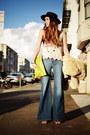 Light-brown-leopard-mules-alexander-wang-shoes-sky-blue-wide-leg-colbert-jeans