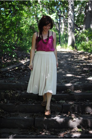 H&M skirt - Urban Outfitters top - Urban Outfitters flats