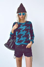 Beanie-husbands-hat-houndstooth-brooklyn-industries-sweater