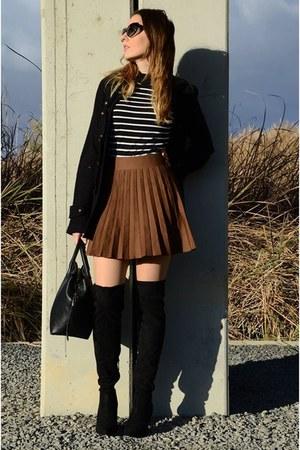 crimson StyleWe skirt - black Zara coat