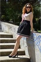 black La Chica de Papel skirt