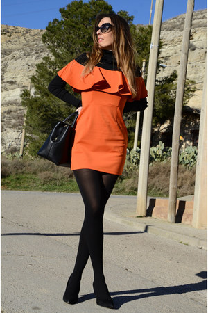 carrot orange zaful dress