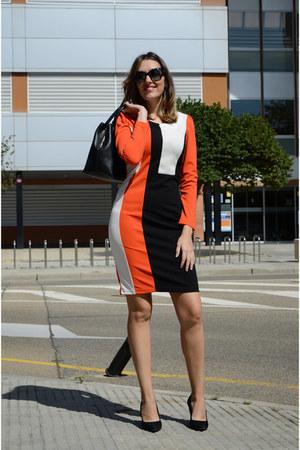 carrot orange Fashionmia dress