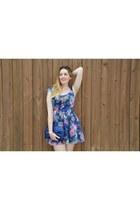 blue Bershka dress