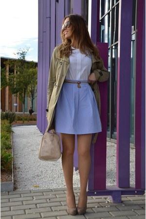 sky blue Mona Ropa y Complementos skirt - dark khaki Springfield jacket