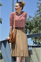 Stripes and Midi Skirt
