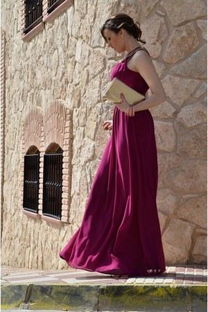 hot pink tintoretto dress