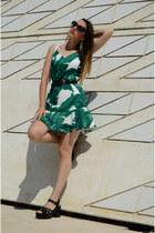 green zaful dress